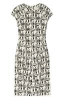 Lela Rose Patterned Cotton Blend Brocade Dress