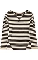 Marc By Marc Jacobs Ben Striped Cottonblend Terry Sweatshirt