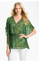 Michael by Michael Kors Lace Up Flutter Blouse