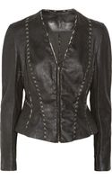 Donna Karan New York Leather Jacket - Lyst