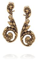 Oscar de la Renta 24karat Goldplated Clip Earrings