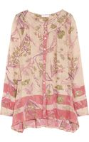 Donna Karan New York Floral-print Cotton and Silk-blend Shirt