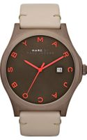 Marc By Marc Jacobs Stainless Steel and Leather Watch