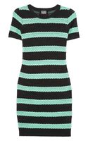 Markus Lupfer Striped Cotton and Woolblend Dress