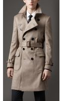 Burberry Mid-Length Cashmere Trench Coat