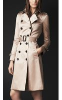 Burberry Prorsum Cotton Sateen Trench Coat - Lyst
