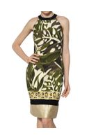 Giambattista Valli Lurex Brocade On Silk Shantung Dress - Lyst