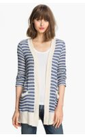 Splendid Panama Stripe Oversized Cardigan