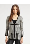 M Missoni Pointellewave Cardigan - Lyst