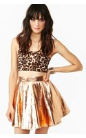 Nasty Gal Metallic Skirt
