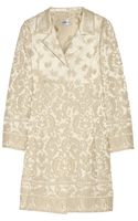 Philosophy di Alberta Ferretti Satin Brocade Coat - Lyst