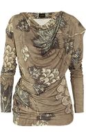 Vivienne Westwood Anglomania Printed Stretch Jersey Top