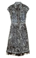 McQ by Alexander McQueen Printed Silk Chiffon Dress