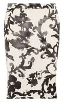 Moschino Cheap & Chic Printed Crepe Pencil Skirt - Lyst