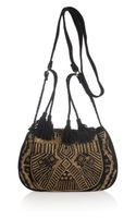 Antik Batik Darie Suede Shoulder Bag