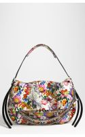 Jimmy Choo Biker Large Floral Genuine Python Shoulder Bag