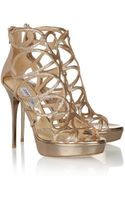 Jimmy Choo Blast Glitterfinished Patentleather Sandals