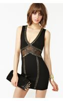 Nasty Gal Studded Mesh Dress - Lyst