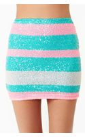 Nasty Gal Candy Stripe Sequin Skirt