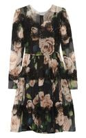 Dolce & Gabbana Floral Print Silk-blend Dress