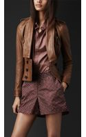 Burberry Prorsum Disconnected Lapel Leather Jacket - Lyst
