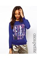 Asos Petite Exclusive Never Sleep Sweat - Lyst