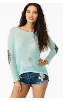 Nasty Gal Striped Patch Knit