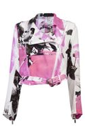 Christopher Kane Silk Biker Jacket - Lyst