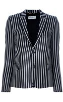 Saint Laurent Striped Blazer - Lyst