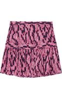 See By Chloé Printed Silkjacquard Mini Skirt