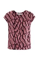 See By Chloé Knit Print Silk Top