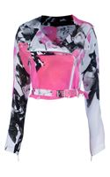 Christopher Kane Printed Biker Jacket - Lyst
