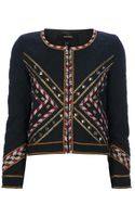Isabel Marant Cropped Embroidered Jacket - Lyst