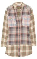 Etoile Isabel Marant Meg Plaid Cottonblend Shirt Dress