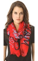 Marc By Marc Jacobs Print Scarf