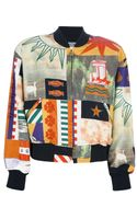 Moschino Vintage Multiprint Bomber Jacket