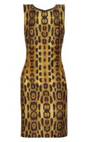 Oscar De La Renta For The Outnet Leopard-print Silk-blend Dress