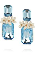 Roberto Cavalli Swarovski Crystal Clip Earrings