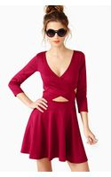 Nasty Gal Crossed Out Skater Dress