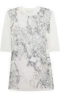 3.1 Phillip Lim Embroidered Silkorganza and Cotton Tshirt