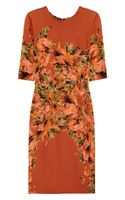 Erdem Ivy Printed Silk Dress