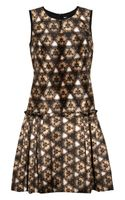 Prabal Gurung Printed Wool and Silk Blend Dress
