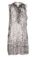 Thakoon Addition Printed Draped Chiffon Dress