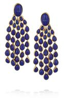Aurelie Bidermann Cherokee Goldplated Lapis Lazuli Clip Earrings