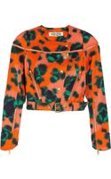 Kenzo Animal Print Cotton Blend Twill Jacket