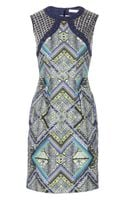 Matthew Williamson Embellished Printed Linen Dress