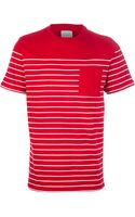 Saturdays Surf Nyc Striped Pocket Tshirt