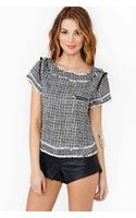 Nasty Gal Colette Twill Top