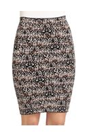 BCBGMAXAZRIA Alexa Pheasant Feather Pencil Skirt - Lyst
