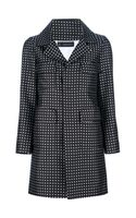 DSquared2 Contrast Heart Print Coat